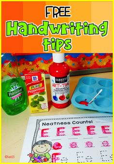 FREE Handwriting: Multi-sensory tips: Two of the ways I found to challenge myself was to integrate my curriculum and incorporate as many of the five senses as possible in my lessons.