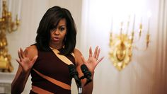 U.S. first lady Michelle Obama welcomes Washington-area students as part of the International Jazz Day celebration at the White House at the White House in Washington D.C., U.S. April 29, 2016. REUTERS/Carlos Barria - RTX2C6OQ