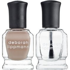 Deborah Lippmann Nail Lacquer & Top Coat Duo (58 ILS) ❤ liked on Polyvore featuring beauty products, nail care, nail polish, deborah lippmann nail lacquer, deborah lippmann nail color, sheer nail polish and deborah lippmann nail polish