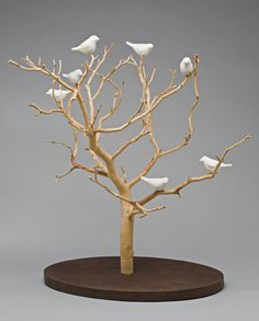 Decoration Branches, Tree Branch Decor, Branch Art, Paper Mache Sculpture, Tree Sculpture, Sculpture Ideas, Clay Crafts, Diy And Crafts, Diy Fimo