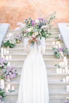 Lilac Wedding, Bangs, Bouquet, Lavender, Bright, Seasons, Table Decorations, Purple, Floral