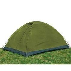 Tente De Camping Igloo 2 Places Vert Olive, il n'y aura plus de maison !