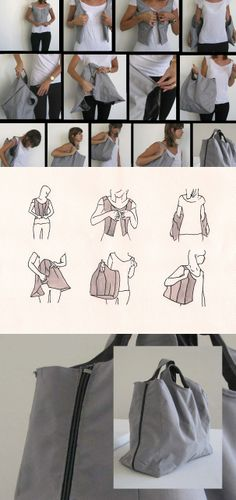 Innovative Vest Doubles as Shopping Bag