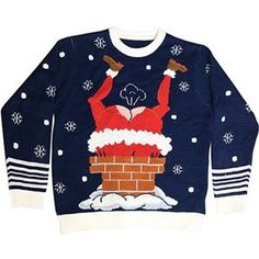 Gassy Santa Adult Ugly Christmas Sweater with Sound - 403851 | trendyhalloween.com