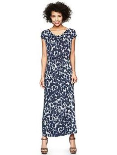 Gap   Printed Drapey Maxi Dress