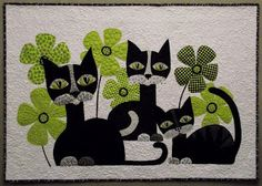 Terri Stegmiller Art Quilts: Paws Paws Everywhere