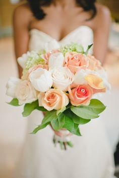 Orange/White/Coral Bouquet