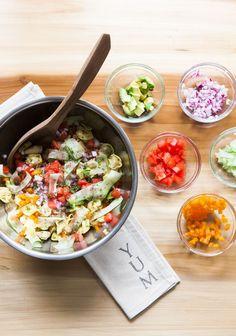 Avocado Tortellini Salad with Fresh Vegetables + Garden Sage Avocado Tortellini Salad with Fresh Vegetables + Garden Sage Avacoda Recipes, Baked Pasta Recipes, Healthy Pasta Recipes, Healthy Pastas, Healthy Snacks, Sage Recipes, Healthy Eating Posters, Clean Eating Recipes, Tortellini Salad