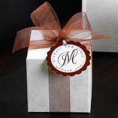 monogramed wedding favor boxes