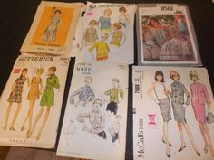 Inventory 129 Vintage Sewing Patterns this is a Lot of 6 size 12 patterns