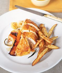 Roast Chicken with Over Fries