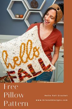 Crochet Cushion Cover, Crochet Pillow Pattern, Crochet Cushions, Afghan Crochet Patterns, Crochet Blocks, Crochet Blankets, Crochet Gratis, Free Crochet, Crochet Granny Square Afghan