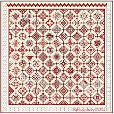 Nearly Insane Quilt. I love this quilt pattern in red!!! I've got to have it. LOL