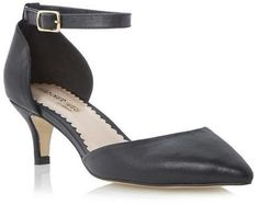 Dune Head Over Heels Ladies CATRIN - BLACK Two Part Kitten Heel Court Shoe on shopstyle.com.au