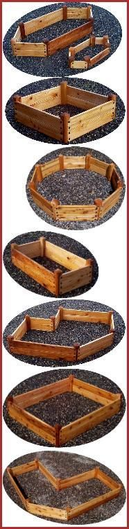Love all the different shapes and sizes for raised bed gardening