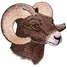 Wildlife04 - Bighorn Ram Machine Embroidery Design