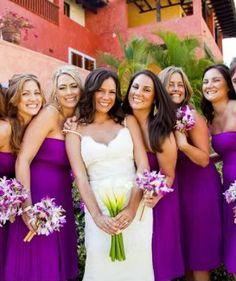 The Perfect Palette: {Destination Wedding}: A Palette Plum, Mauve, Fuchsia & White