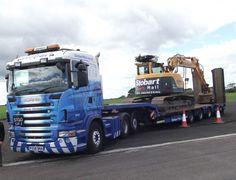 Stobart Rail Lowloader Cool Trucks, Big Trucks, Eddie Stobart Trucks, Jeep Baby, Benne, Old Wagons, Fan Picture, Heavy Truck, Transporter