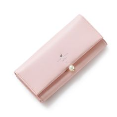 Cool Simple Bead Decoration Fashion Women's Lady Girl PU Leather Card Case Holder Hand Clutch Casual Wallet Zipper Pocket Purse