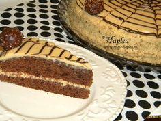 Tort ciocolătos cu cremă caramel