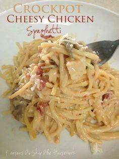 Crockpot Cheesy Spagetti