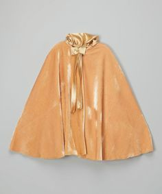 Look at this Gold Velvet Cape - Infant, Toddler & Girls on #zulily today!
