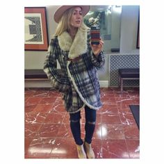 b0507acb98df REDUCEDFree People Plaid over Sherpa Jacket One of my favorite pieces