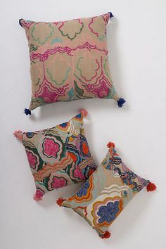Embroidered Bhangra Pillow $118.00 #anthropologie