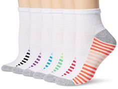 Hanes Crew Socks 4-Pack Womens Cool Comfort Sport Super soft wicks Arch Support