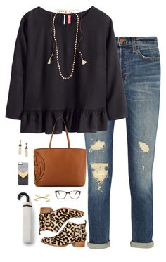 """~Hey Jude~"" by thepinkandgreenprep1 ❤ liked on Polyvore featuring J Brand, H&M, Jeffrey Campbell, Tory Burch, Chan Luu, Prism, BaubleBar, Zero Gravity, MANGO and women's clothing"