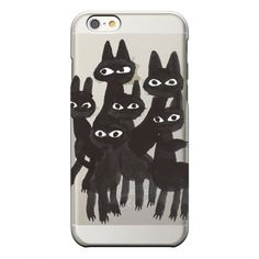 "iPhoneケース「アイスランドの黒猫たち」// iPhone case ""Icelandic black cats"" // Asuka Eo & CINRA.STORE"