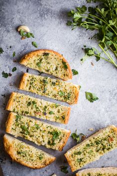 This easy homemade BEST garlic bread recipe has fresh herbs, tons of flavorful roasted garlic, and is perfectly toasted. This garlic bread is a guaranteed crowd-pleaser!