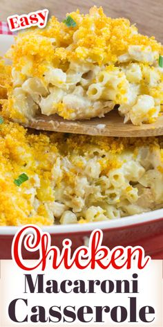 Chicken Macaroni Casserole is a quick and easy recipe to make. A yummy, cheesy casserole the kids will love that is perfect for those busy weekday dinners. Great for using up leftover chicken or store bought rotisserie chicken. Recipe Using Leftover Chicken, Cooked Chicken Recipes Leftovers, Macaroni Casserole, Macaroni Recipes, Recipes Using Rotisserie Chicken, Easy Chicken Recipes, Easy Family Meals, Quick Easy Meals, Kitchen Recipes
