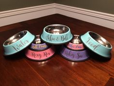 Hey, I found this really awesome Etsy listing at https://www.etsy.com/listing/292550835/pet-bowls-personalized-dog-bowls-cat