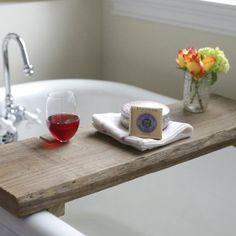 Easy To Make Reclaimed Wood Bath Caddy