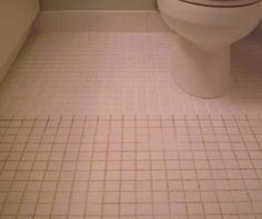 According to another pinned: Mix 7 cups water, 1/2 cup baking soda, 1/3 cup lemon juice and 1/4 cup vinegar. Spray the concoction onto the dirty grout, let sit, and scrub with a brush. Sparkling grout await.