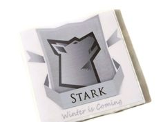 Game of Thrones Coasters House Stark Winter is Coming by TrendyCoasters, $21.75 #gameofthrones