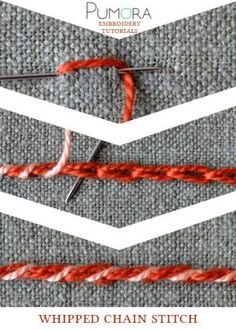 whipped chain stitch tutorial