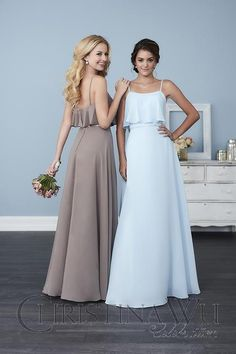 ruffle bridesmaid dresses available at Spotlight Formal Wear!