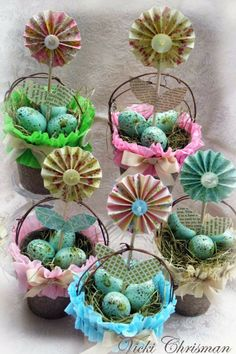 This art that makes me happy: Spring/Easter Peat Moss baskets Craft Stick Crafts, Paper Crafts, Diy Crafts, Craft Ideas, Project Ideas, Easter Crafts For Kids, Easter Ideas, Easter Projects, Easter Recipes
