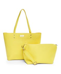 Yellow Textured Tote & Crossbody Bag #zulily #zulilyfinds