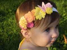 Felt flower garland headband.