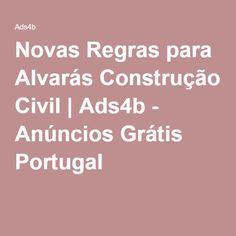 Novas Regras para Alvarás Construção Civil   Ads4b - Anúncios Grátis Portugal