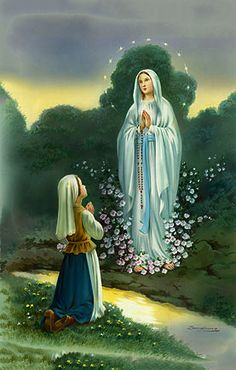 Our Lady of Lourdes, Patron Saint of Illness and Healing ~ Virgin Mary Mother of God Wrap Your Loving Arms Around Marie And Let Her Feel Your Calming Embrace Amen As soon as I awoke today I thought of you and prayed to St. Peregrine for you Marie! Jesus Mother, Blessed Mother Mary, Blessed Virgin Mary, Catholic Saints, Patron Saints, Catholic Prayers, Roman Catholic, Ste Bernadette, Image Jesus