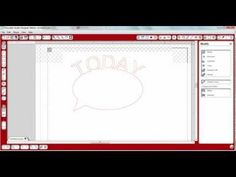 TODAY Speech Bubble Tutorial for Silhouette Cameo Studio                           with FREE download for speech bubble