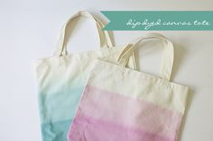 DIY | Dip Dyed Canvas Totes from Glamour and Grace!