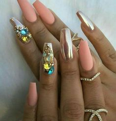 In search for some nail designs and ideas for your nails? Listed here is our list of 37 must-try coffin acrylic nails for fashionable women. Glam Nails, Hot Nails, Fancy Nails, Bling Nails, Beauty Nails, Hair And Nails, Dark Nails, Fabulous Nails, Gorgeous Nails