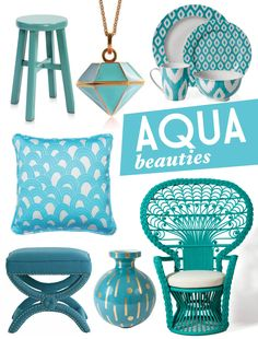 Aqua Dinnerware | These beautiful aqua and turquoise pieces are sure to turn heads.