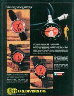 US Divers Interspace Gauge Ad, Dive History
