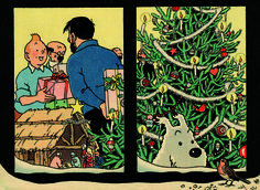 couvertures de magazines Noël | Couverture du journal Tintin n° 51 de 1958